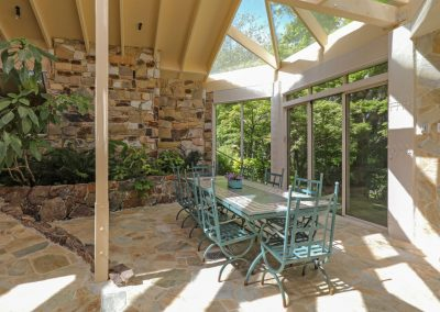 Conservatory with multi aspect garden views